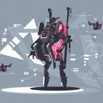 Alien Robot Warrior Hidden