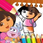 Dora the Explorer the Coloring Book
